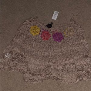 Bebe Crop Sweater Poncho- Style